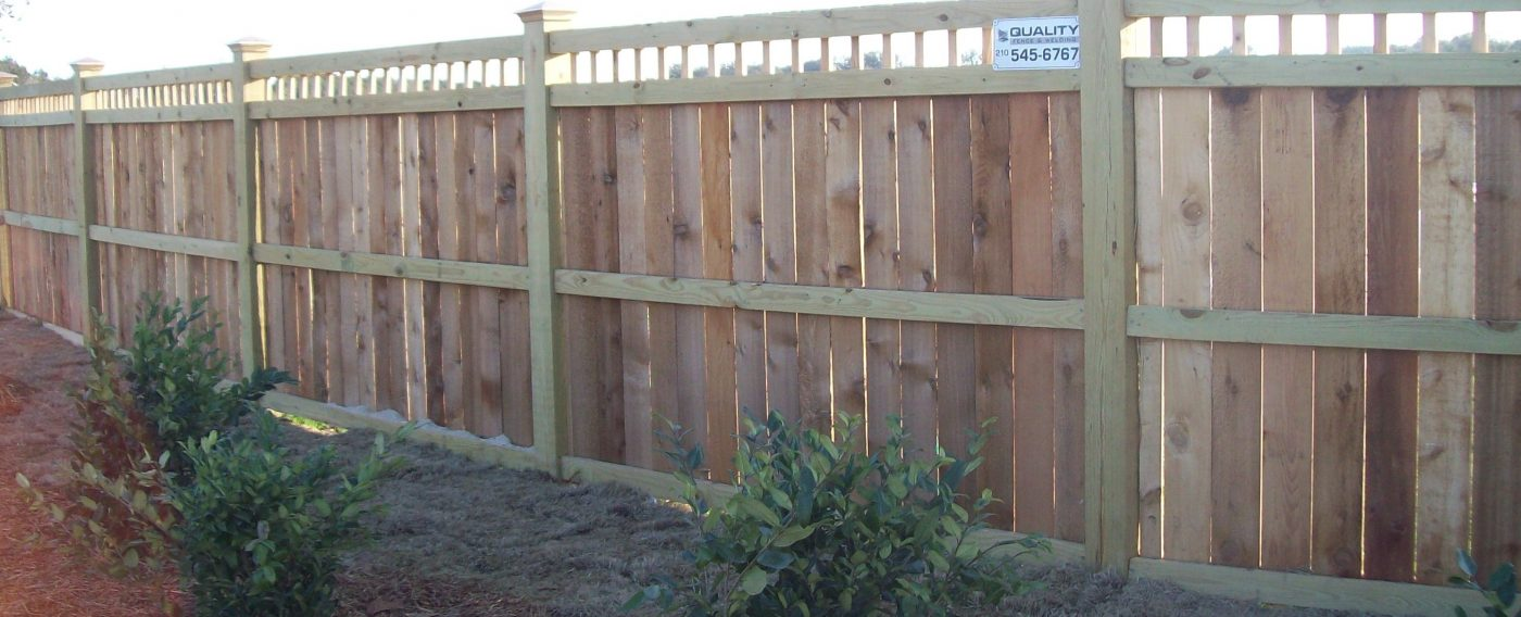Wood fencing san antonio quality fence welding uses top grade materials that hold up best in our south texas climate cedar and acq wood products with a concrete footing for the baanklon Gallery
